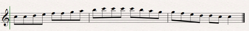 Scales Repeated notes